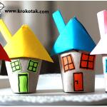 Do It Yourself: Φτιάχνουμε όμορφα μικρά χάρτινα σπιτάκια.