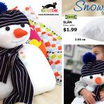 Do It Yourself: Φτιάχνουμε ένα χαριτωμένο χιονάνθρωπο με ένα μαξιλάρι (ΙΚΕΑ).