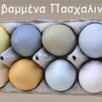 Φυσικά βαμμένα Πασχαλινά Αυγά