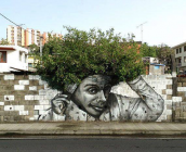 Ένα διαφορετικό γκράφιτι! Όταν η τέχνη του δρόμου δένει αρμονικά με το περιβάλλον!