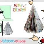 Do It Yourself: φτιάχνουμε ένα μοντέρνο χριστουγεννιάτικο δέντρο από παλιό περιοδικό!