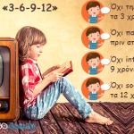 Ο κανόνας «3-6-9-12» για τα παιδιά και την οθόνη.