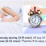Πόσες ώρες ύπνου χρειάζεστε κάθε νύκτα, ανάλογα με την ηλικία σας
